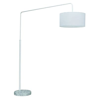 Nuevo Raku 65'' Arched Floor Lamp; White