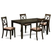 East West Lynfield 5 Piece Dining Set; Microfiber Upholstery