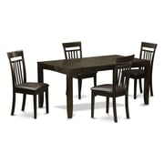 East West Lynfield 5 Piece Dining Set; Faux Leather