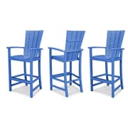 POLYWOOD  Quattro Bar Stool (Set of 3); Pacific Blue