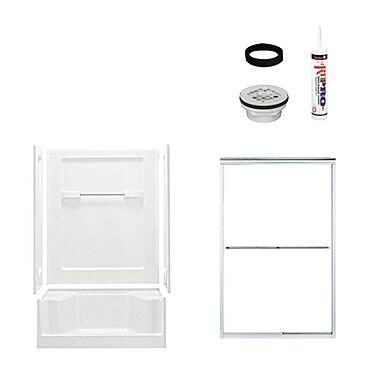 Sterling by Kohler Advantage Shower Package; Satin Nickel/White