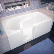 Therapeutic Tubs Ashton 60'' x 30'' Whirlpool Jetted Bathtub; Left
