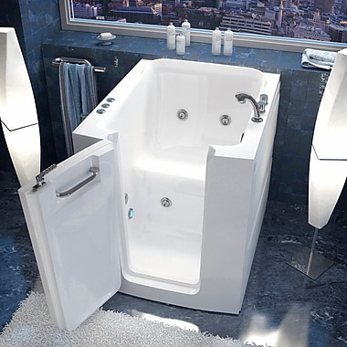 Therapeutic Tubs Durango 32'' x 38'' Whirlpool Jetted Bathtub; Right