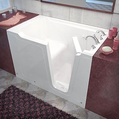 Therapeutic Tubs Crescendo 59.7'' x 35.8'' Soaking Bathtub; Right