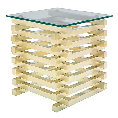 Nuevo Stacked End Table; Gold