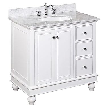 KBC Bella 36'' Single Bathroom Vanity Set; White