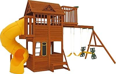 KidKraft Abbeydale Clubhouse Wooden Swing Set