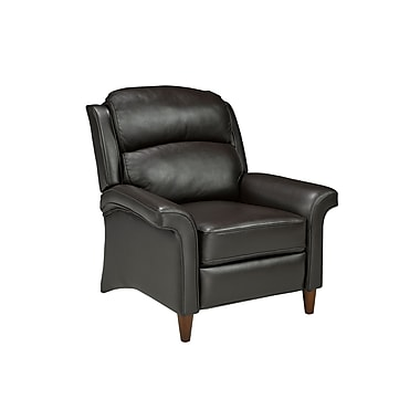 Brassex AS 5116-3400 Push Back Recliner, Dark Brown