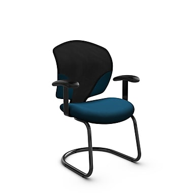 Global® (1953 IM76) Tye Guest & Reception Chair, Imprint Navy Fabric, Blue