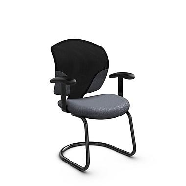 Global® (1953 MT30) Tye Guest & Reception Chair, Match Grey Fabric, Grey