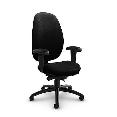 Global® (3140-0 MT32) Malaga High Back Synchro Tilter, Match Black Fabric, Black