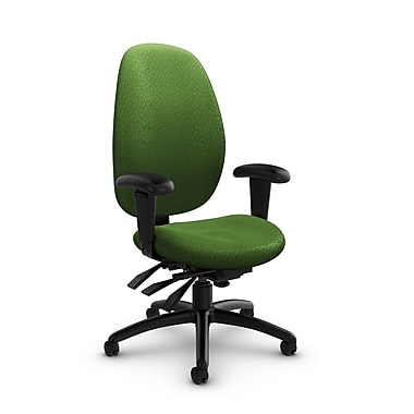 Global® (3140-3 MT27) Malaga High Back Multi Tilter, Match Green Fabric, Green