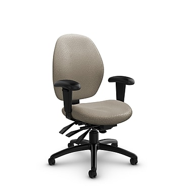 Global® (3141-3 MT20) Malaga Low Back Multi Tilter, Match Desert Fabric, Tan