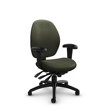 Global® (3141-3 MT22) Malaga Low Back Multi Tilter, Match Moss Fabric, Green