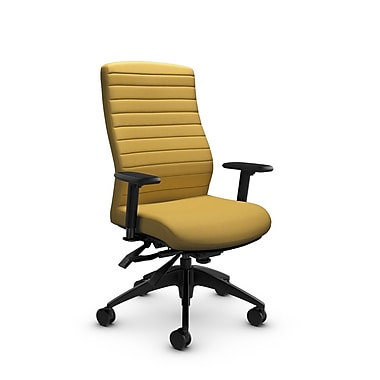 Global® (2851-3 IM73) Aspen High Back Multi Tilter, Imprint Currie Fabric, Yellow