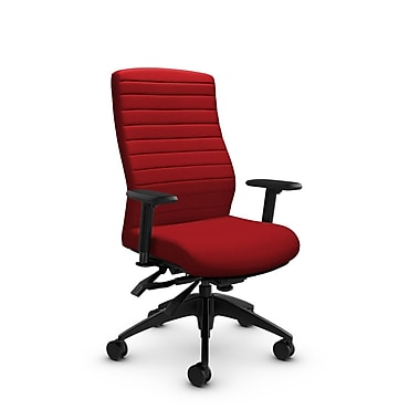 Global® (2851-3 IM74) Aspen High Back Multi Tilter, Imprint Candy Apple Fabric, Red
