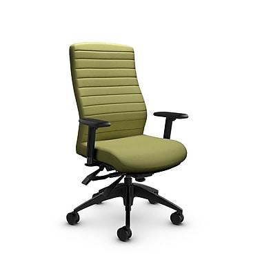 Global® (2851-3 IM78) Aspen High Back Multi Tilter, Imprint Celery Fabric, Green
