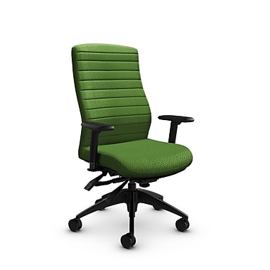 Global® (2851-3 MT27) Aspen High Back Multi Tilter, Match Green Fabric, Green