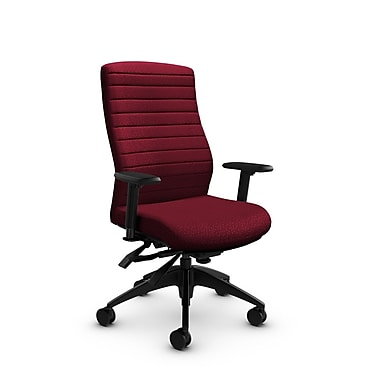 Global® (2851-3 MT29) Aspen High Back Multi Tilter, Match Burgundy Fabric, Red