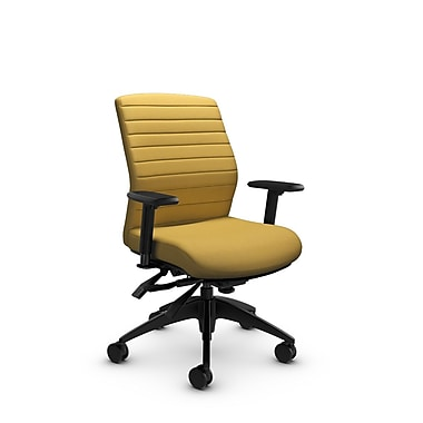 Global® (2852-3 IM73) Aspen Mid Back Multi Tilter, Imprint Currie Fabric, Yellow