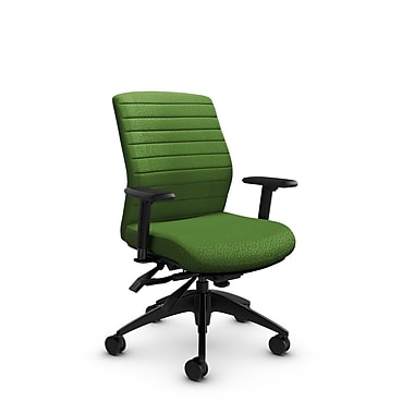 Global® (2852-3 MT27) Aspen Mid Back Multi Tilter, Match Green Fabric, Green
