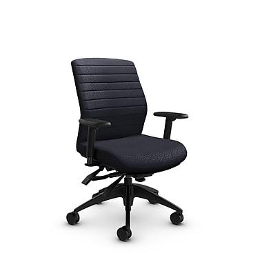 Global® (2852-3 MT31) Aspen Mid Back Multi Tilter, Match Quarry Fabric, Grey