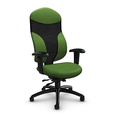 Global® (1950-3 MT27) Tye High Back Multi Tilter, Match Green Fabric, Green