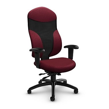 Global® (1950-3 MT29) Tye High Back Multi Tilter, Match Burgundy Fabric, Red
