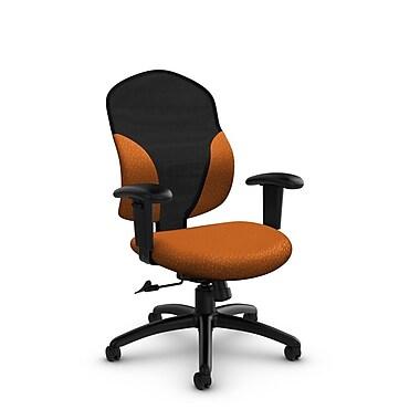Global® (1951-4 MT23) Tye Mid Back Tilter, Match Orange Fabric, Orange