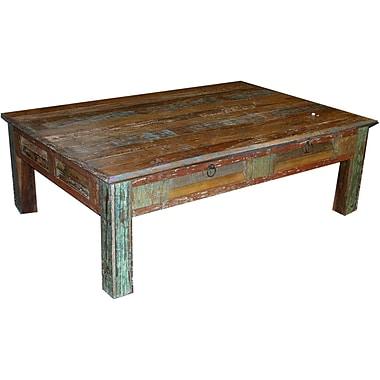 MOTI Furniture Coffee Table; 18'' H x 60'' W x 42'' D