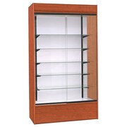 KC Store Fixtures Wall Display Case w/ LED Light; Cherry