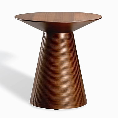 Nuevo Anika End Table; Tan Walnut