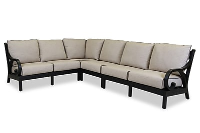 Sunset West Monterey Sectional w/ Self Welt Cushions; Canvas Canvas