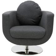 Nuevo Simone Barrel Chair; Dark Grey