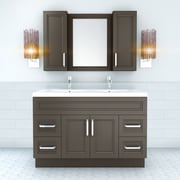 Cutler Kitchen & Bath Urban 48'' Vanity Double Bowl; Dark Gray