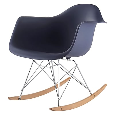 Meelano M10 Molded Plastic Rocking Chair, Beech Wood Frame (10-NVY)