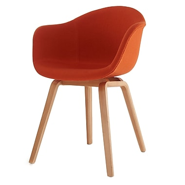 Meelano M18 Chair in Felt Wool with Beech Wood Base (Set Of Two) (18-FAB-ORN)