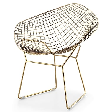 Meelano M354 Chair in Gold Chrome and White Vegan Leather (Set Of Two) (354-GD-WHI)