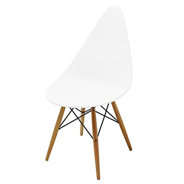 Meelano M22 Chair in Matte White Molded Plastic (Set Of Two) (22-WHI)