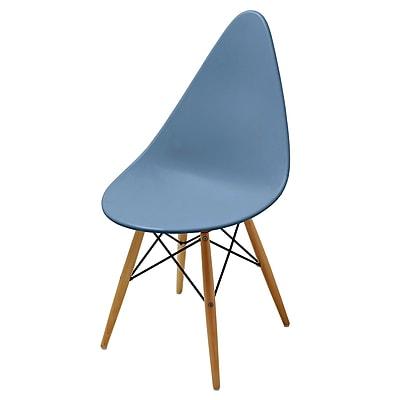 Meelano M22 Chair in Matte Slate Molded Plastic (Set Of Two) (22-SLT)