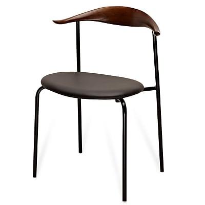 Meelano M21 Chair in Walnut (Set Of Two) (21-DBR)
