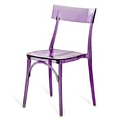 Meelano M20 Ghost Chair in Purple Transparent Molded Plastic (Set Of Two) (20-PRP)