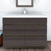 Cutler Kitchen & Bath Boardwalk 48'' Single Bathroom Vanity Set; Karoo Ash