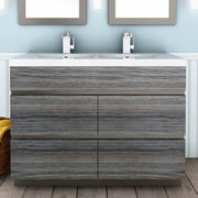 Cutler Kitchen & Bath Boardwalk 48'' Double Bathroom Vanity Set; SouthWester