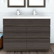 Cutler Kitchen & Bath Boardwalk 48'' Double Bathroom Vanity Set; Karoo Ash