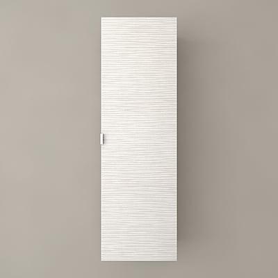 Cutler Kitchen & Bath Textures 15'' W x 48'' H Wall Mounted Cabinet; Contour White