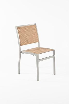 Control Brand Batyline French Mesh Flevoland Side Chair, Silver, Beige (FCC0201BGE)