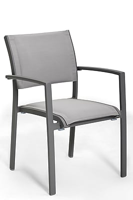 Control Brand Outdoor Sling Fabric Rhodes Arm Chair, Grey (FCC0404GREY)