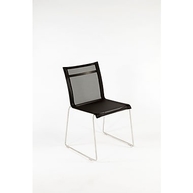 Control Brand Outdoor Sling Fabric Dynamic Side Chair, Black (FCC0701BLK)