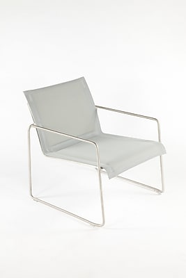 Control Brand Outdoor Sling Fabric Dynamic Lounge Chair, Silver (FCC0710SILVER)
